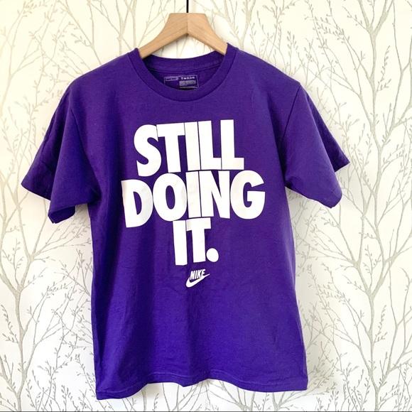 Transformador contraste trapo  Nike Tops   Nike Still Doing It Purple Tshirt   Poshmark